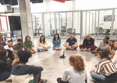 Ratcliffe fellows participating in a group discussion at FIU